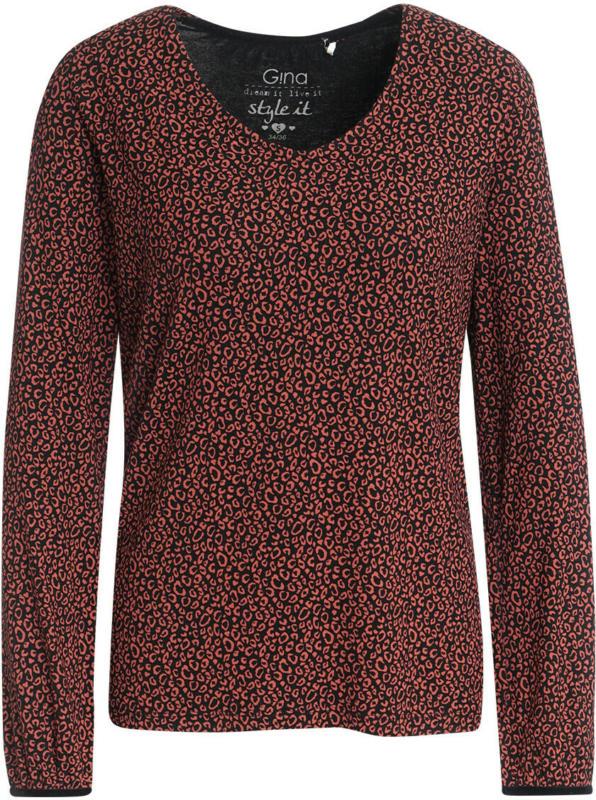 Damen Langarmshirt mit Leo-Print (Nur online)