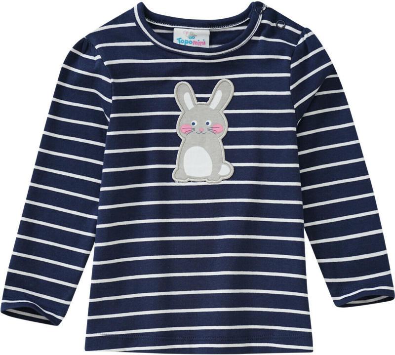 Baby Langarmshirt mit Hasen-Motiv