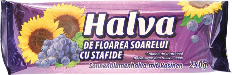 Sonnenblumenhalva mit Rosinen