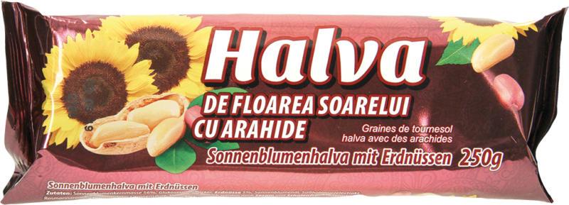 Sonnenblumenhalva mit Erdnüssen