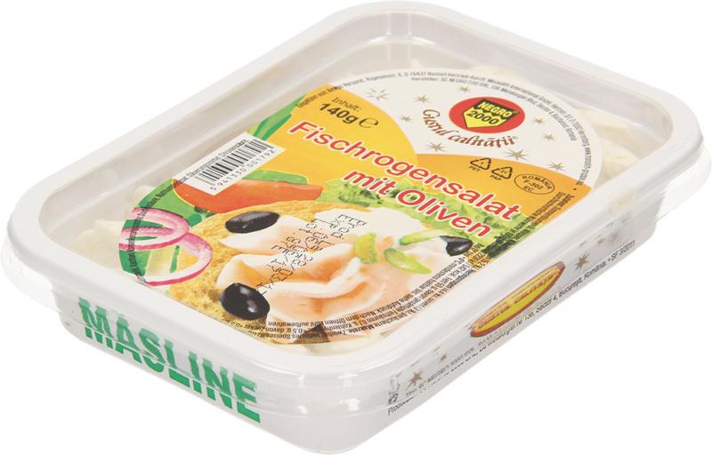 Fischrogensalat mit Oliven