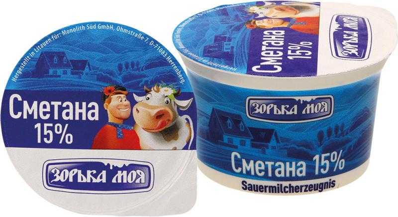 Sauermilcherzeugnis 15% Fett.
