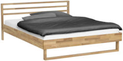 Bett in Buchefarben