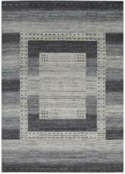 Wollteppich 130/190 cm Grau, Silberfarben