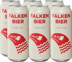 Bière lager blonde Falken, 6 x 50 cl