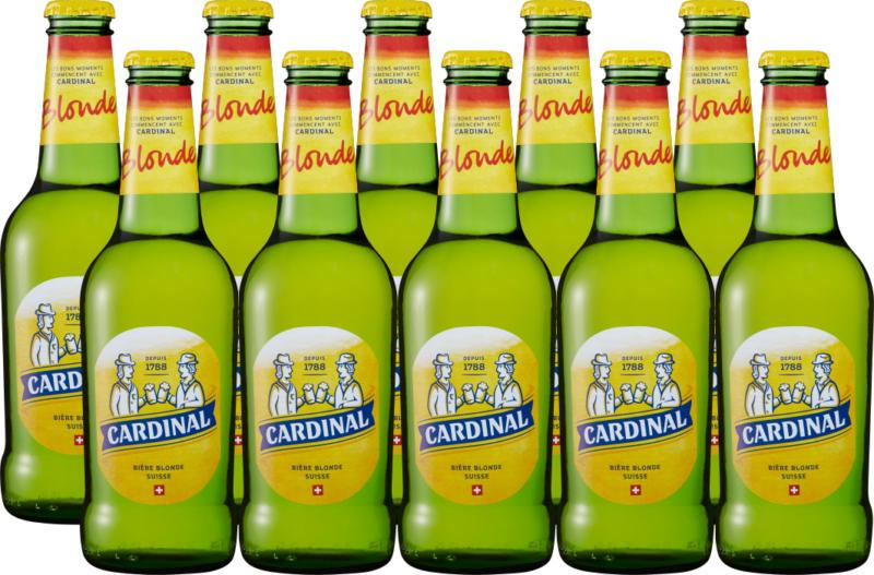 Birra chiara Cardinal, 10 x 33 cl