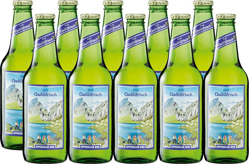 Birra chiara Quöllfrisch Appenzeller, 10 x 33 cl