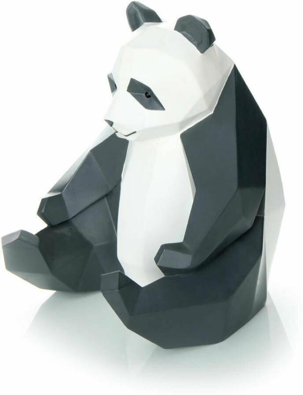 """Skulptur """"Panda 110"""", weiß/schwarz"""