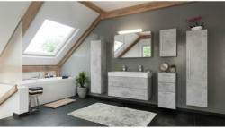 "Doppelbadmöbel-Set ""Livono"", 100 cm, 6-teilig, Beton grau"