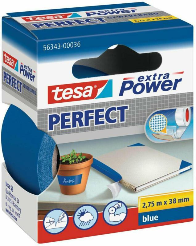 Extra Power Gewebeband, blau, 38 mm 38 mm | blau