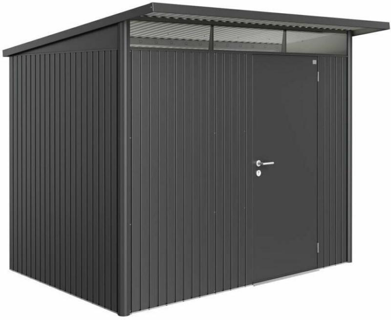 "Gerätehaus ""AvantGarde"", Standardtür, 260x220x218 cm, dunkelgrau 260x220x218 cm | dunkelgrau"