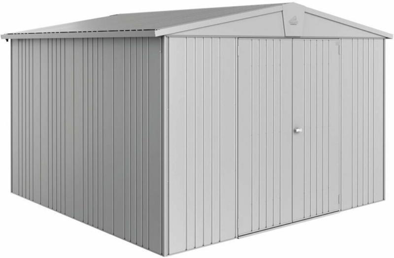 "Gerätehaus ""Europa Gr. 7"", 316x300x310 cm, silber-metallic 316x300x310 cm | silber-metallic"