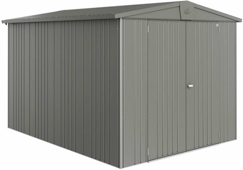 "Gerätehaus ""Europa"", 244x300x203 cm, quarzgrau-metallic 244x300x203 cm   quarzgrau-metallic"