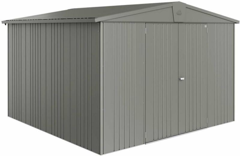 "Gerätehaus ""Europa"", 316x300x209 cm, quarzgrau-metallic 316x300x209 cm   quarzgrau-metallic"