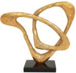Möbelix Skulptur Clue Gold/Schwarz H: 34 cm