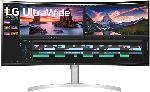 MediaMarkt Monitor Curved UltraWide 38WN95C, 38 Zoll, QHD+, 144Hz, 1ms, AH-IPS, 450cd, HDR10, Weiß/Silber