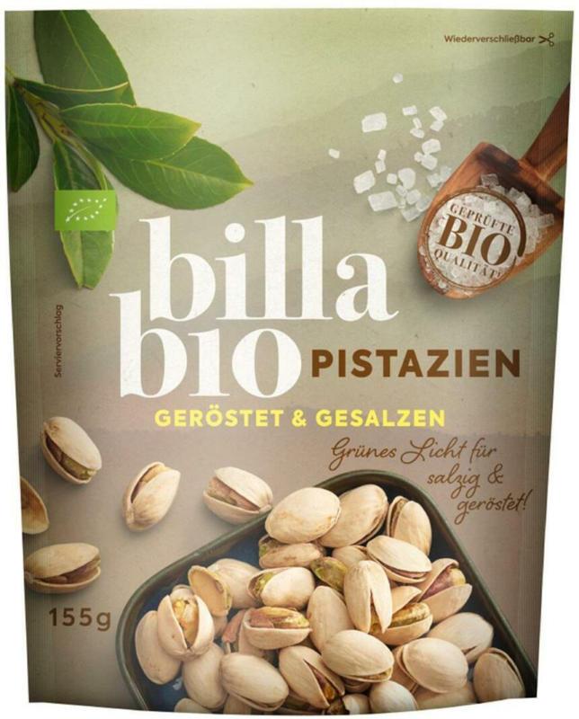 BILLA Bio Pistazien geröstet & gesalzen
