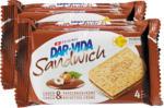 Denner Sandwich Cioccolato & Crema di nocciole Dar-Vida Hug, 2 x 195 g - al 01.03.2021