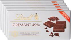 Tablette de chocolat Crémant 49% Lindt, 5 x 100 g