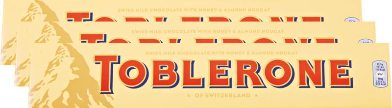 Toblerone Lait, 3 x 360 g