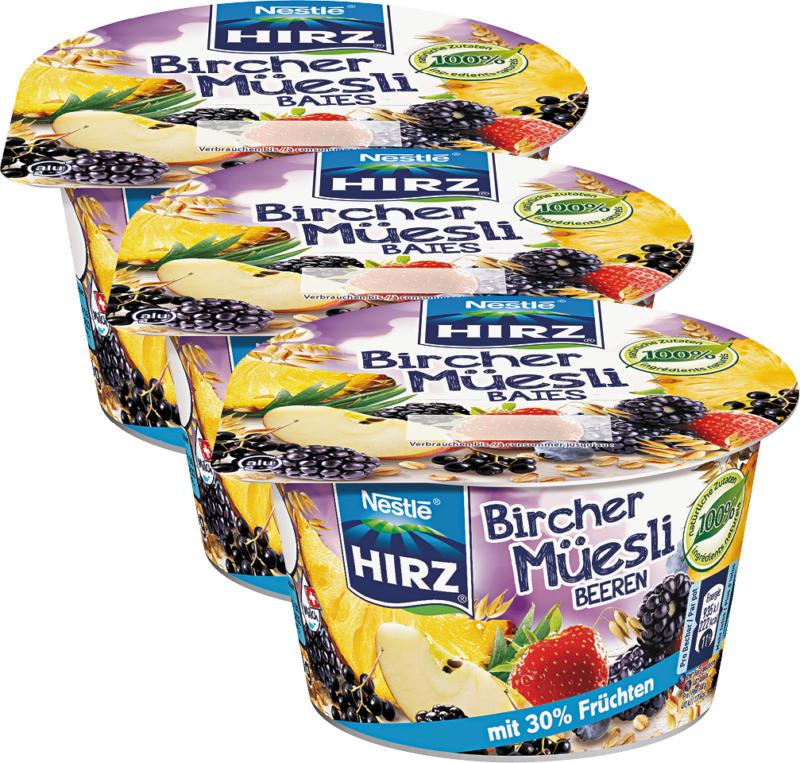 Birchermuesli Hirz , Bacche, 3 x 190 g