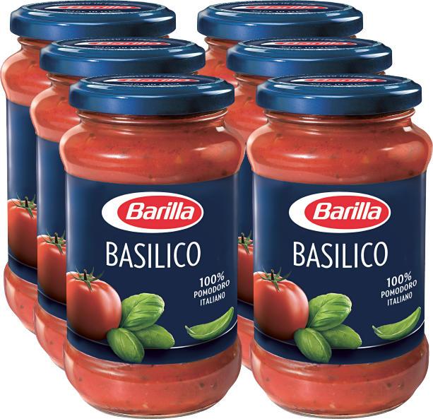 Barilla Sauce Basilico , 6 x 400 g