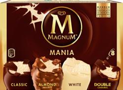 Magnum Mania Glacé, assortiert, 4 Sorten, 836 ml