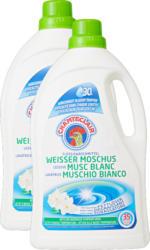 Lessive liquide Musc blanc Chanteclair, 2 x 35 lessives, 2 x 1,75 litre