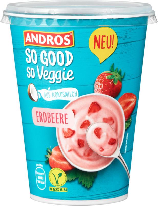 Andros So Good & So Veggie, a base di latte di cocco, fragola, 400 g
