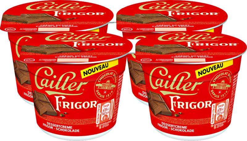 Crème dessert Chocolat Cailler, Frigor, 4 x 100 g