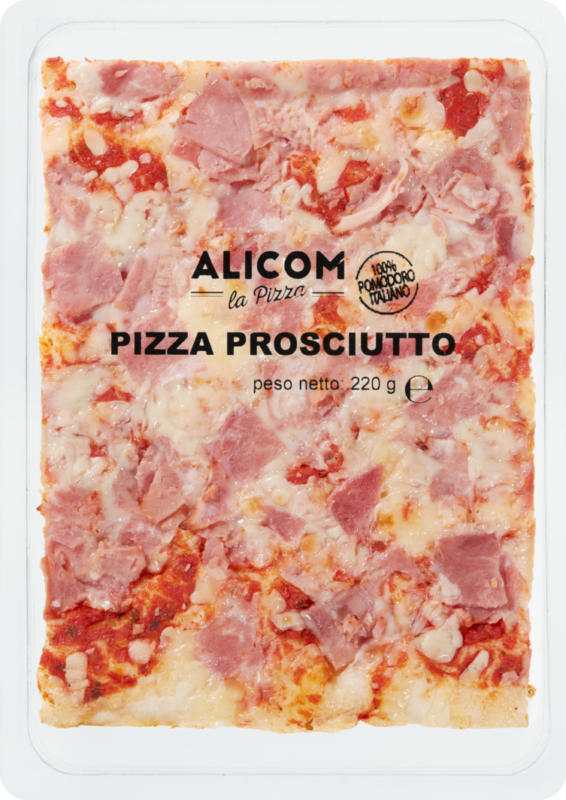 Alicom Blechpizza, Schinken, 220 g