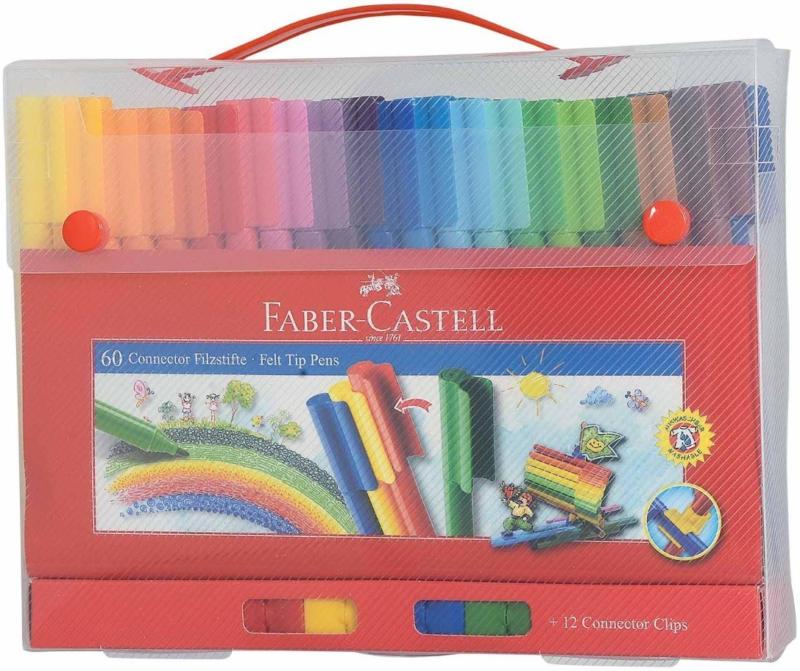 Faber Castell Connector Pen valise 60 pièces -