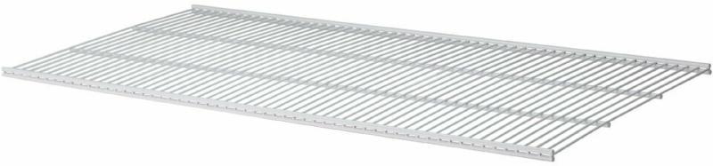 Regalboden-Set, Draht, 80x40,6cm, weiß weiß