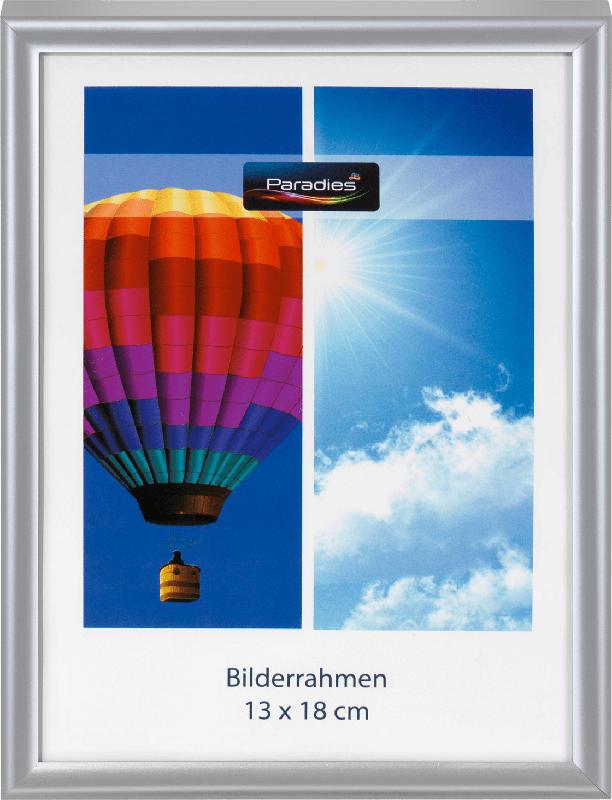Paradies Bilderrahmen Kunststoff Easy 13 x 18 cm, silber