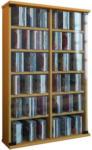Möbelix CD Regal mit Glastüren Roma 60 cm Buche Dekor