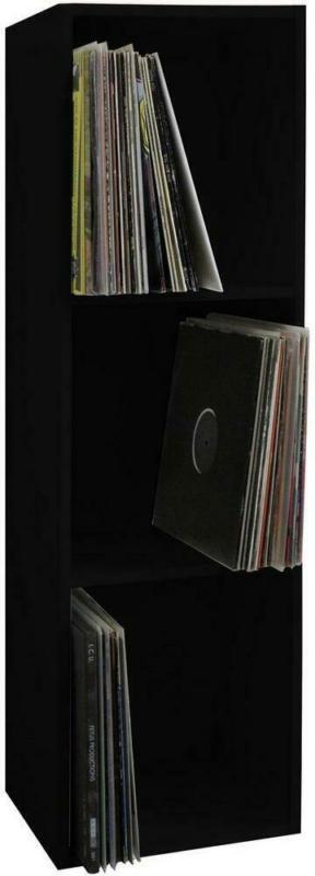 Schallplattenregal Platto 34 cm Schwarz