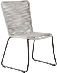 Stapelstuhl in Metall, Kunststoff Grau, Schwarz