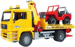 Bruder MAN TGA Abschlepp-LKW mit Geländewagen -
