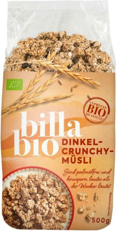 BILLA Bio Dinkel Crunchy-Müsli