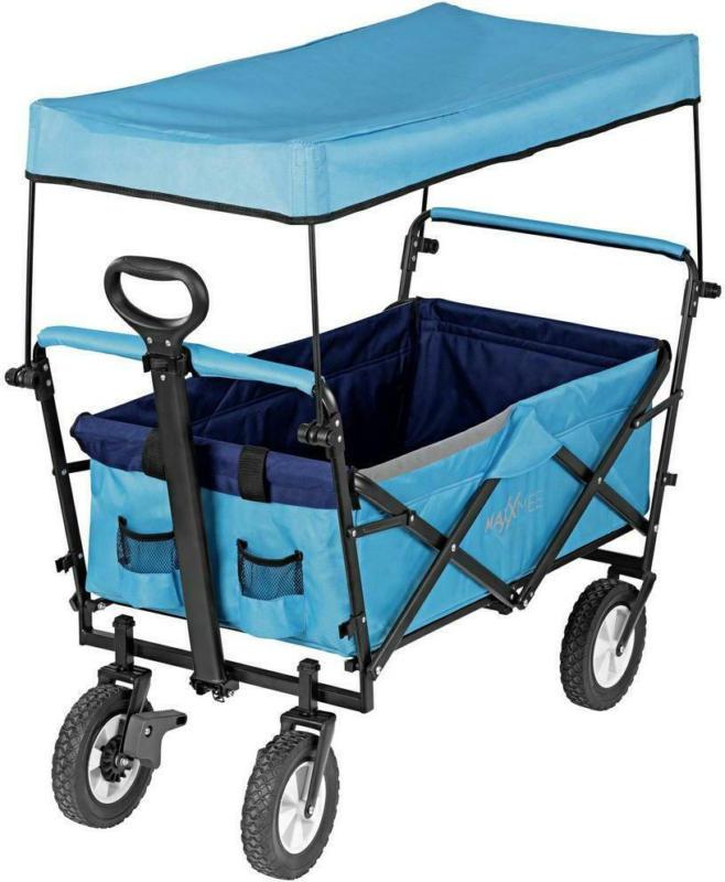 Bollerwagen Maxxmee Faltbar Blau