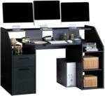 Möbelix Schreibtisch mit Stauraum B 160cm H 95,7cm Enter, Grau