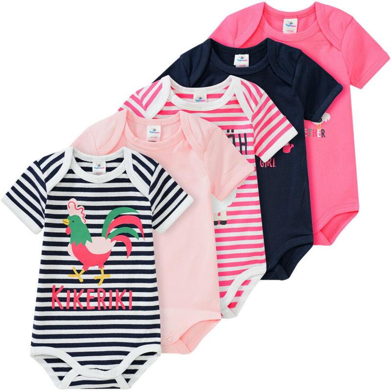 5 Baby Bodys in verschiedenen Dessins (Nur online)