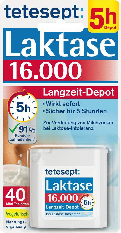 tetesept Laktase Tabletten 16000 (40 Stück)