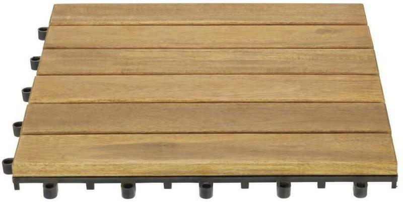 Terrassenfliese Rudi 10er Set Je 30x30 cm Akazienholz
