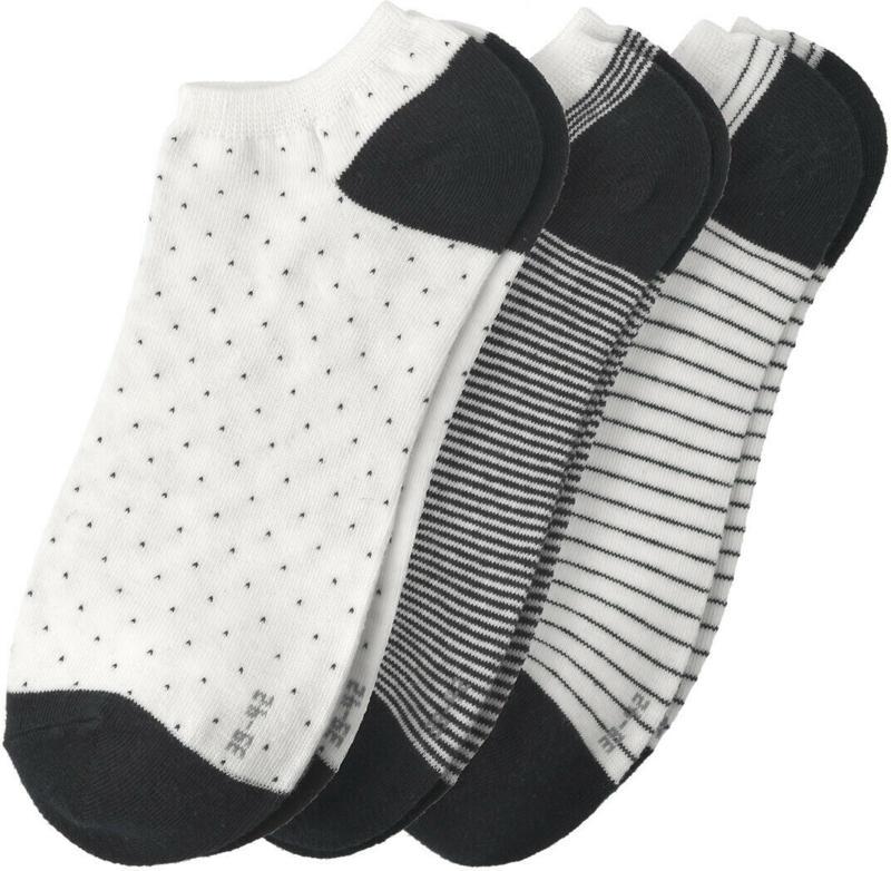 3 Paar Damen Sneaker-Socken im Set (Nur online)