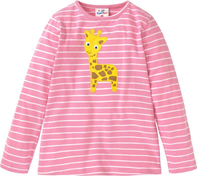 Mädchen Langarmshirt mit Giraffen-Motiv