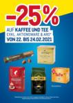 METRO -25% auf Kaffee & Tee - bis 24.02.2021