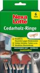Pagro NEXA LOTTE Zedernholz-Ringe gegen Motten 6 Stück