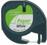 """Pagro DYMO Beschriftungsband """"Letra Tag"""" aus Papier 12 mm x 4 m schwarz auf weiß"""