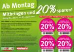 Feneberg: Mitbringen und 20% sparen!